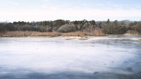 Frozen Lake, Minnesota Stock Photo