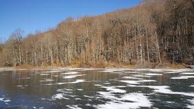 Frozen lake in Montenegro Royalty Free Stock Photos