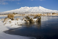 Mount Ruapehu, Tongariro National Park, New Zealand Royalty Free Stock Images