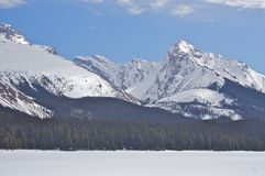 Frozen Lake and Mountain Stock Photography