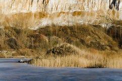 Frozen lake in a mountains land Royalty Free Stock Photo
