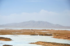 Frozen Lake in Qinghai-Tibet Plateau Stock Photography