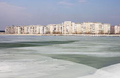 Frozen lake - RAW format Stock Image