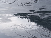 Frozen Lake and Reflections 2 Royalty Free Stock Photography