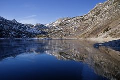 Frozen Lake Sabrina Stock Images