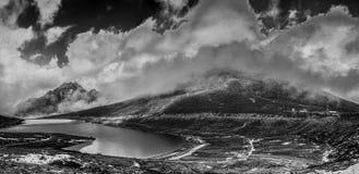 Frozen lake at Sela Pass stock photography