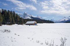 Frozen Lake in Snow Royalty Free Stock Photo