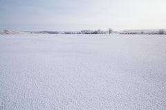 Frozen lake with snow royalty free stock images
