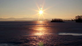Frozen Lake stock video footage