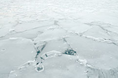 Frozen lake surface Stock Images