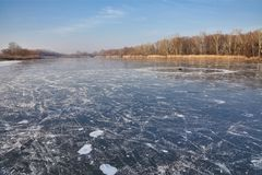 Frozen lake surface Royalty Free Stock Photography