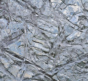 Frozen lake surface at winter. Crystal structure of a frozen lake surface Stock Images