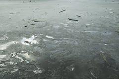 Frozen lake surface Stock Photo