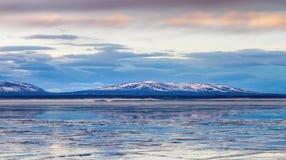Frozen lake. A frozen lake in the Sweden Stock Photos