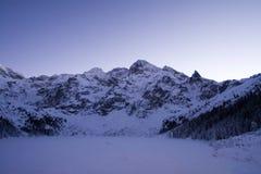 Frozen lake in Tatra mountains royalty free stock photos