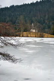 Frozen lake - winter scenery Stock Image