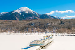 ' Frozen lake in the winter time Stock Photography