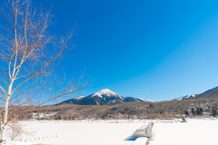 .Frozen lake in the winter time Stock Photo