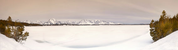 Frozen Lake, Wyoming Royalty Free Stock Image