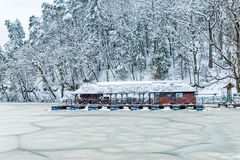 Frozen lake in Zagorje, Croatia Stock Photography