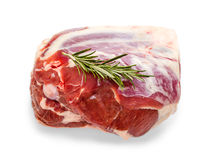 Frozen lamb leg with rosemary twig Stock Image