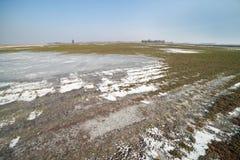 Frozen land. Stock Image