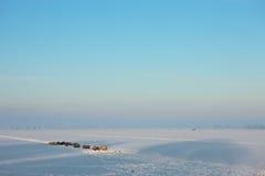 Frozen landcape. A sunny winter day in Dutch landscape Stock Image
