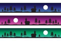 Frozen landscape 3 colors Stock Photography