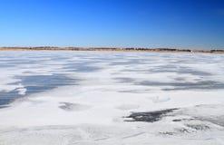Frozen landscape background Stock Images