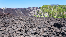 Frozen lava flow on slope of Etna volcano Royalty Free Stock Photos