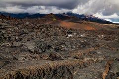 Frozen lava of Tolbachik volcano, Kamchatka Royalty Free Stock Photography