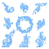 Frozen leafs. Floral ornament Royalty Free Stock Images