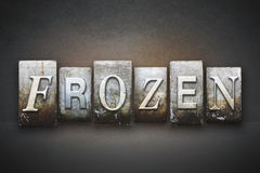 Frozen Letterpress Royalty Free Stock Image