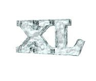 Frozen letters xl Royalty Free Stock Photos