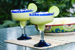 Frozen Lime Margaritas Stock Photos