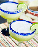 Frozen Lime Margaritas Royalty Free Stock Images