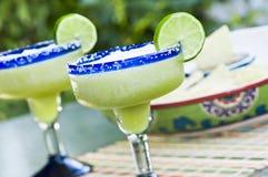 Frozen Lime Margaritas Stock Photos