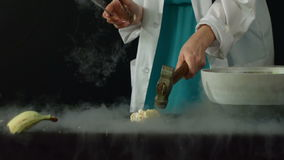 Frozen in liquid nitrogen stock footage