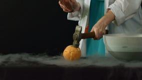 Frozen in liquid nitrogen stock video
