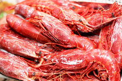 Frozen lobsters Stock Photography