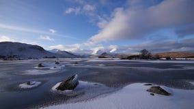 Frozen loch stock footage