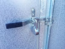 Frozen Lock and Ice Royalty Free Stock Photos