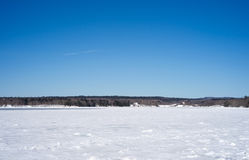 Frozen Long Cove at Searsport, Maine Royalty Free Stock Photos