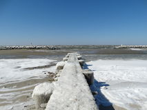 Frozen Lookout. Taken on the Chesapeake Bay on one of the coldest days of the year Royalty Free Stock Photography