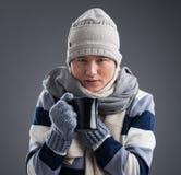 Frozen man Stock Images