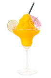 Frozen mango margarita daiquiri isolated on white Royalty Free Stock Image