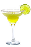 Frozen Margarita. Cocktail Frozen Margarita  or Daiquiri with lime isolated on white Royalty Free Stock Image