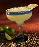 Frozen margarita. With lime and salt on the rim royalty free stock photography