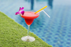 Frozen margarita with strawberry Royalty Free Stock Image