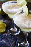 Frozen Margaritas. With lime and salt Stock Photography